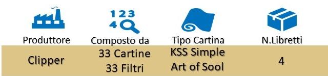 Icona Clipper Cartine+Filtri Simple Art of Sool KSS Libretti su Boooh.it