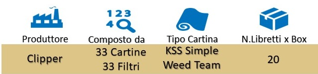 Icona Clipper Cartine+Filtri Simple Weed Team Kss Box su Boooh.it