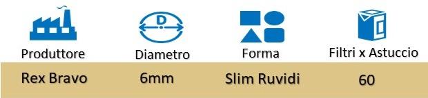 Icona Rex Bravo Filtri Ruvidi Slim 6mm su Boooh.it