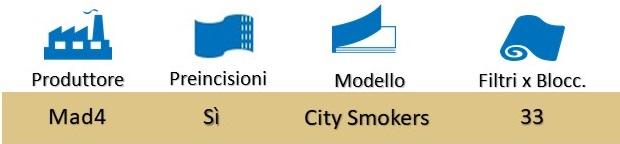 Icona Mad4 City Smokers Filtri in Carta Blocchetto su Boooh.it