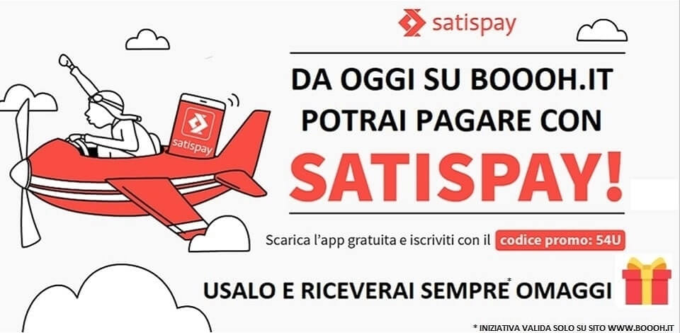 ACQUISTA SU BOOOH.IT CON SATISPAY